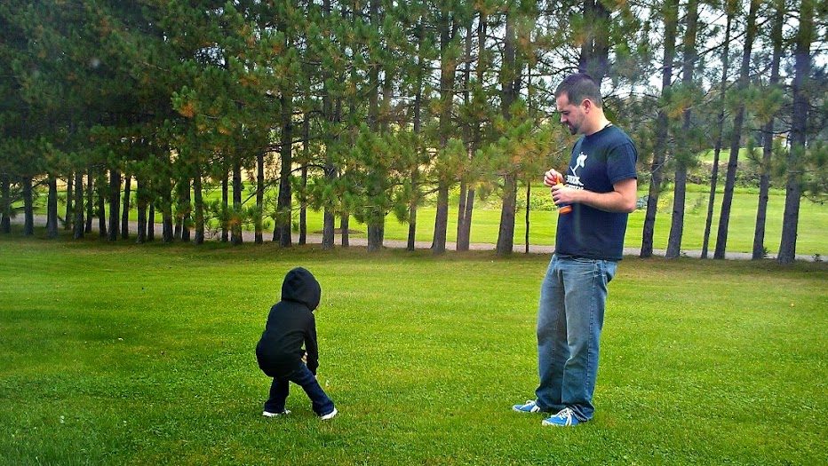 Our Trip to Maine: Blowing Bubbles with Uncle Jeff