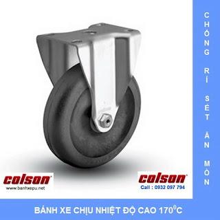 Bánh xe đẩy chịu nhiệt càng bánh xe inox 304   banhxepu.net
