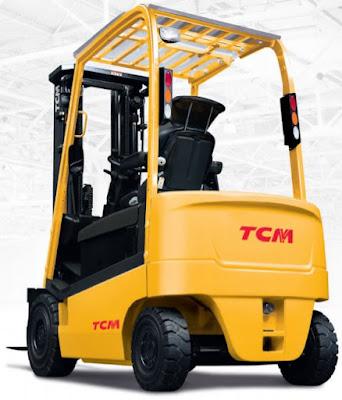 Xe nâng điện TCM 1.5 tấn cao 4.3m 4.5m 4.7m