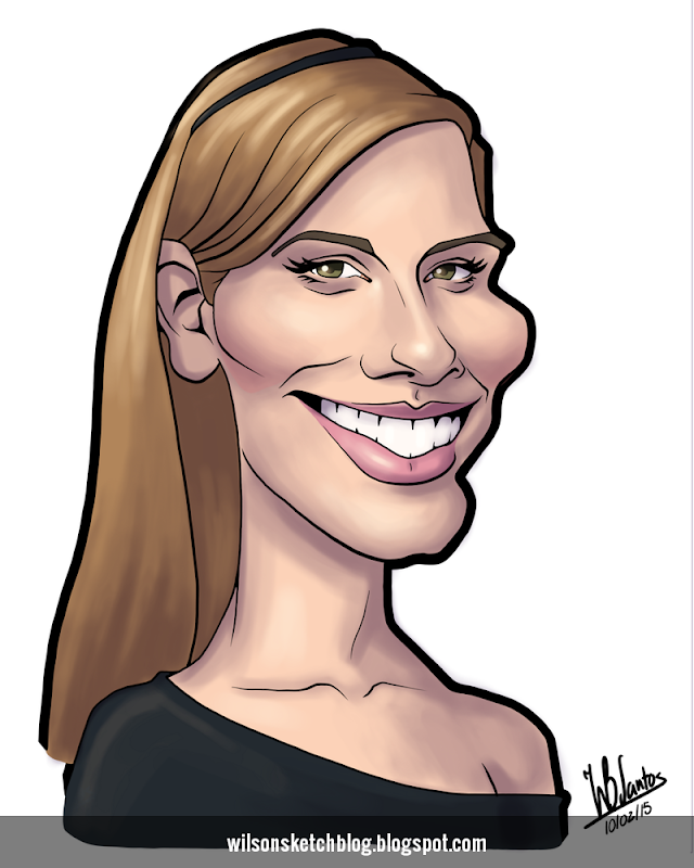 Cartoon caricature of Maggie Grace.