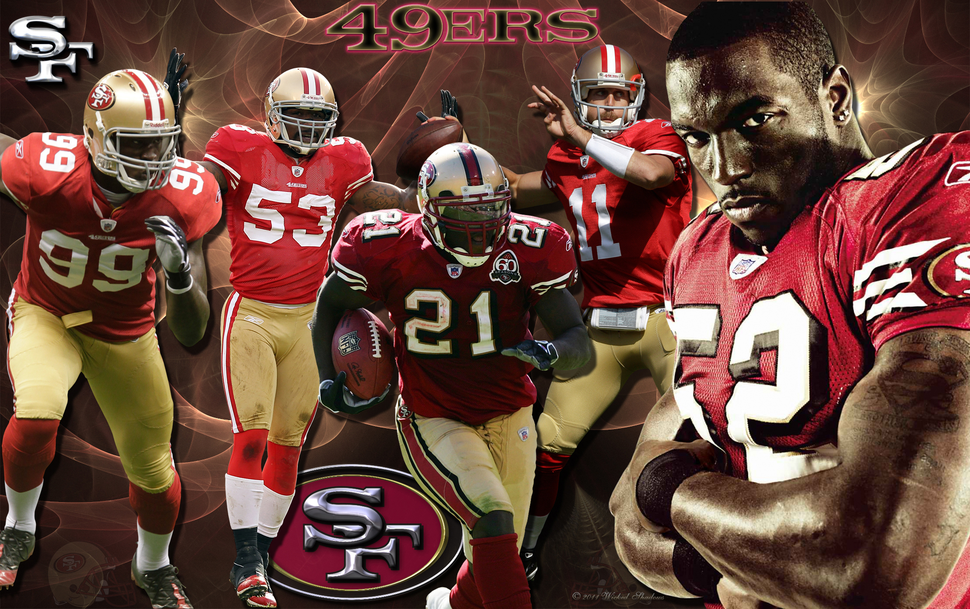 Wallpapers by wicked shadows san francisco 49ers team wallpaper 4x3 standard 16x9 widescreen 16x10 widescreen san francisco 49ers team wallpaper voltagebd Gallery