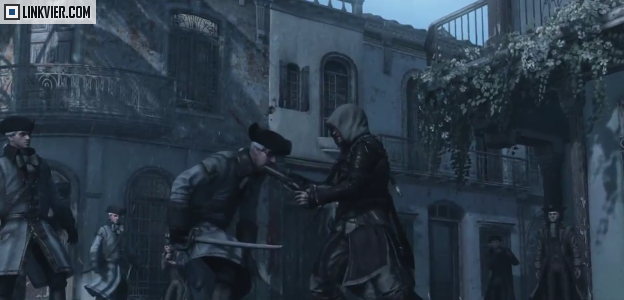shot in the face through the mouth in Assassins Creed 4