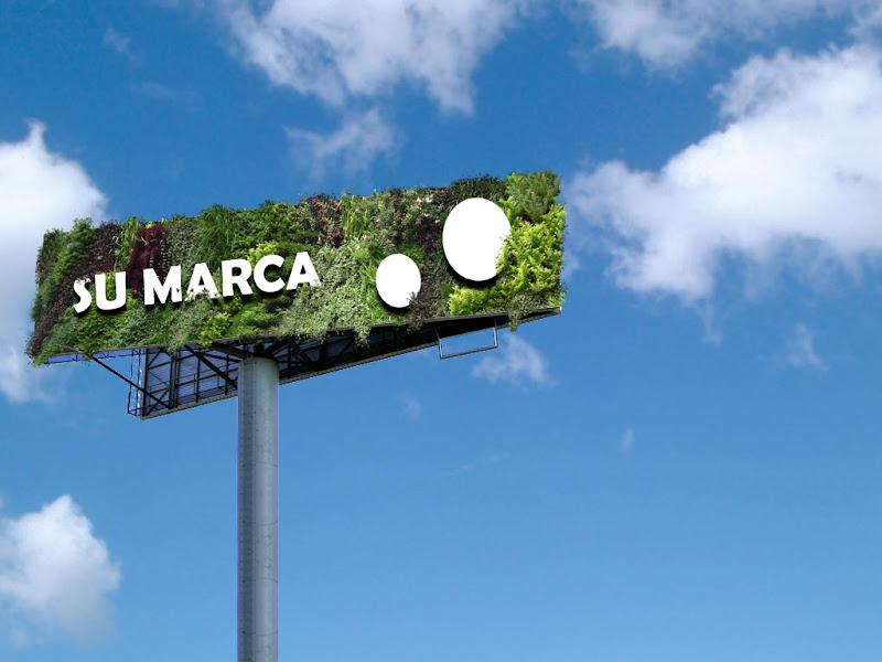 Jardín vertical publicitario Madrid.