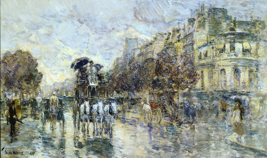 Childe Hassam - Les Grands Boulevards, Paris