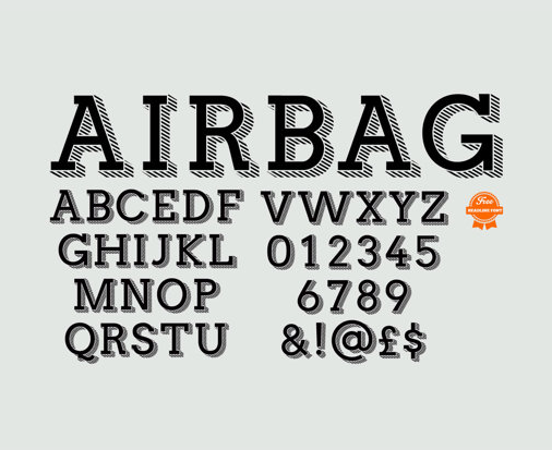Airbag Typeface Free Fonts