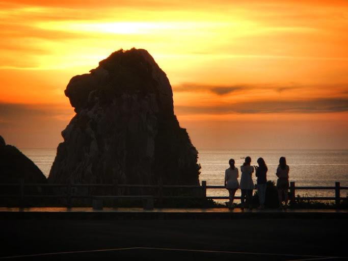 壱岐の猿岩の夕日
