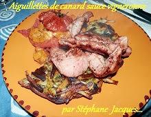 Aiguillettes de canard sauce vignerone