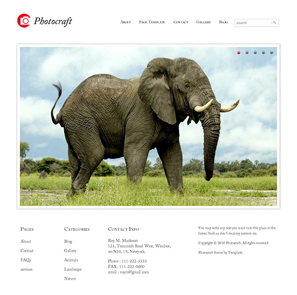 Photocraft WordPress Portfolio Theme