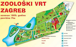 Zoo Tails: Around the World: Map of the Zagreb Zoo in Croatia