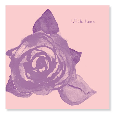 with love rose card