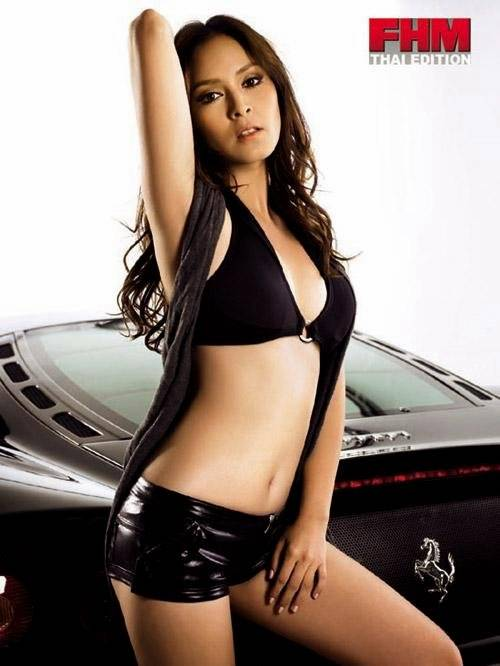 Nana Rybena Thailand Sexy Race Driver and Model