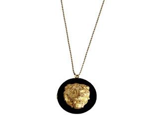 bijoux créateur collier medaillon lion