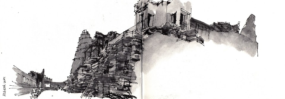 Angkor Wat sketch during sun set