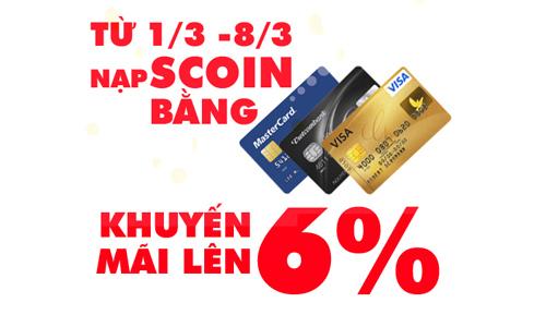 Soha Game khuyến mãi 6% khi thanh toán trực tuyến 1