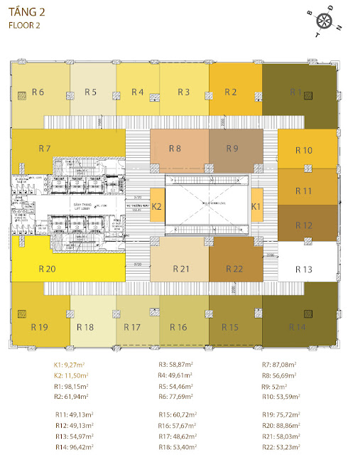 Mặt bằng Golden King - Tầng 17 (Click vào ảnh để phóng to)