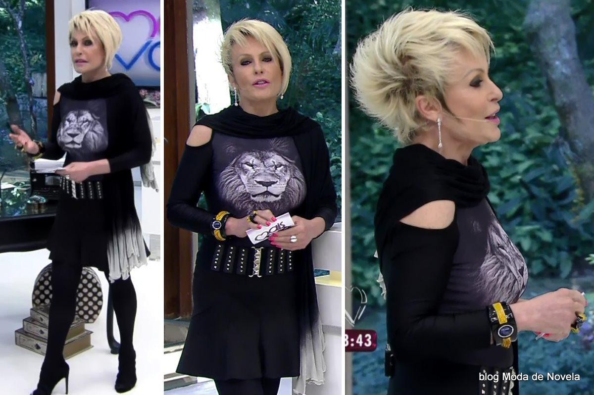 moda do programa Mais Você - look da Ana Maria Braga dia 23 de julho