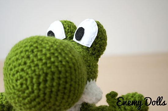 Yoshi amigurumi by Enemy Dolls