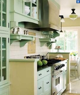 cocina elegante verde agua