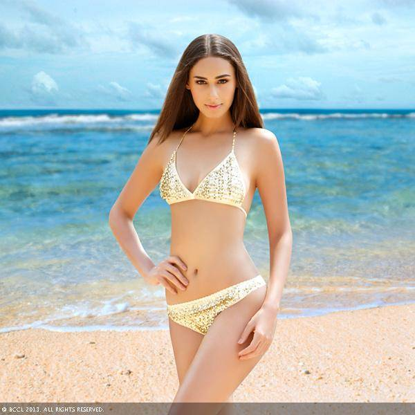 Femina Miss India Earth 2011 Hasleen Kaur poses for the month of June.