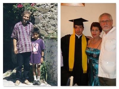 Gusts erstes Patenkind Roberto vor 21 Jahren (links) und heute.