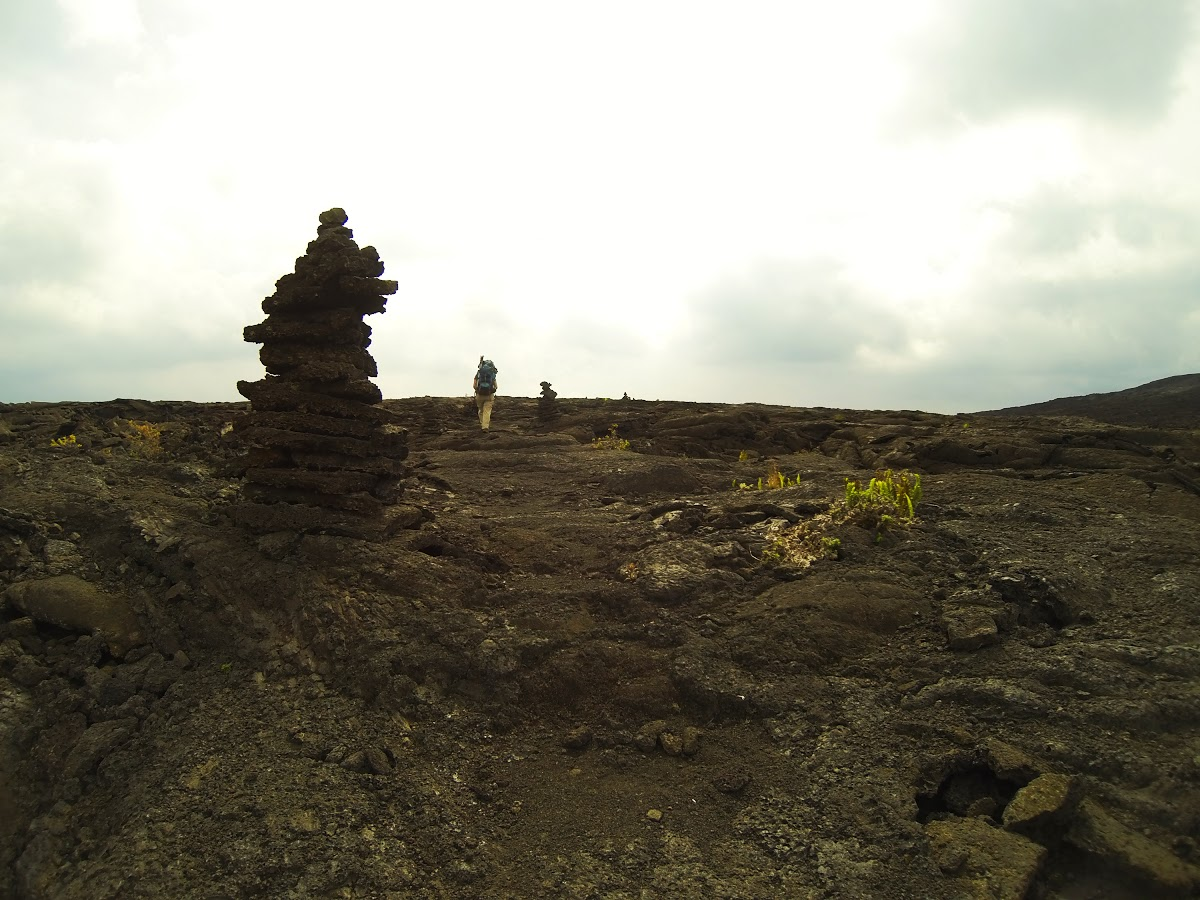 Backpacking to Napau Crater