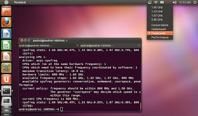 Indicator CPUFreq Ubuntu 11.10