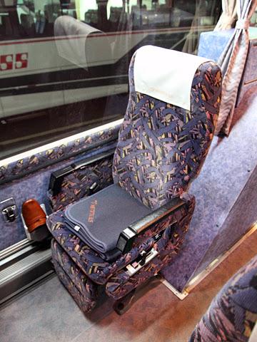 名鉄バス「どんたく号」 シート