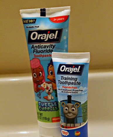 Making Tooth Brushing for Preschoolers Fun with Orajel Kids Bubble Guppies Toothbrushes & Toothpaste