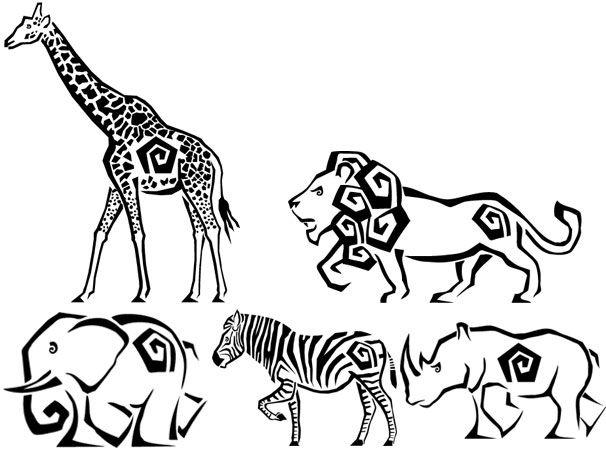 Animales de áfrica para colorear