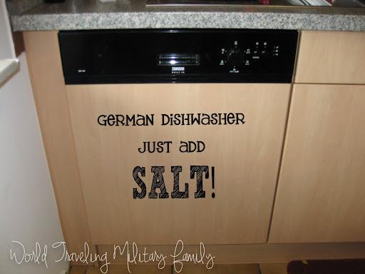 German Dishwasher - Just Add Salt! | World Traveling Military Familly