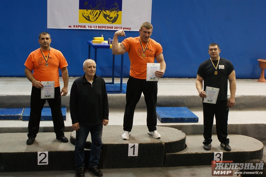 Zarkua Lawrence (2nd place), Sergey Solyanik (1st place), Andrey Tokarev (3rd place)