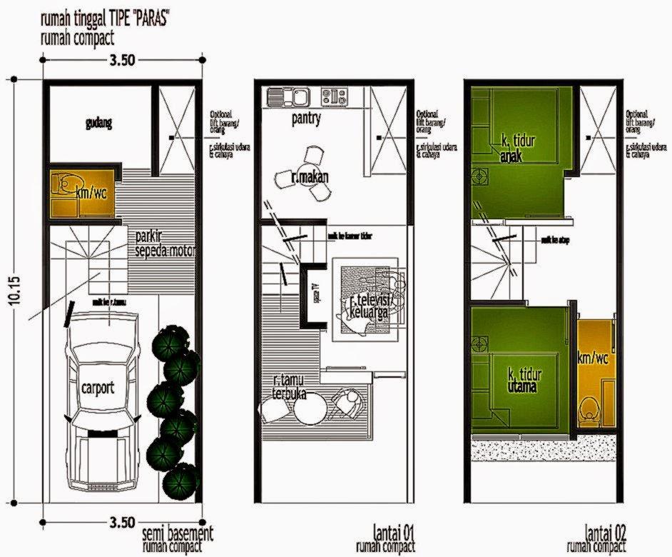 Desain Rumah Lahan Sempit | Gallery Taman Minimalis