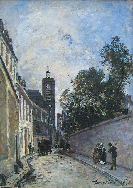 Johan Jongkind - Rue De L'AbbeDeL'Epee And The Church Of Saint James