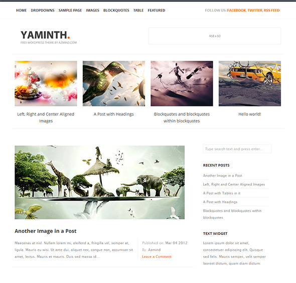 Yaminth Elegant WordPress Theme