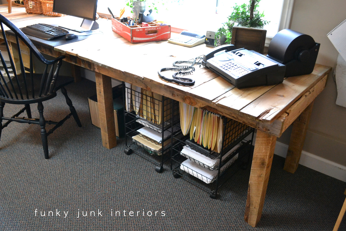 Pallet Farm Table Desk Part 3 The Reveal Funky Junk