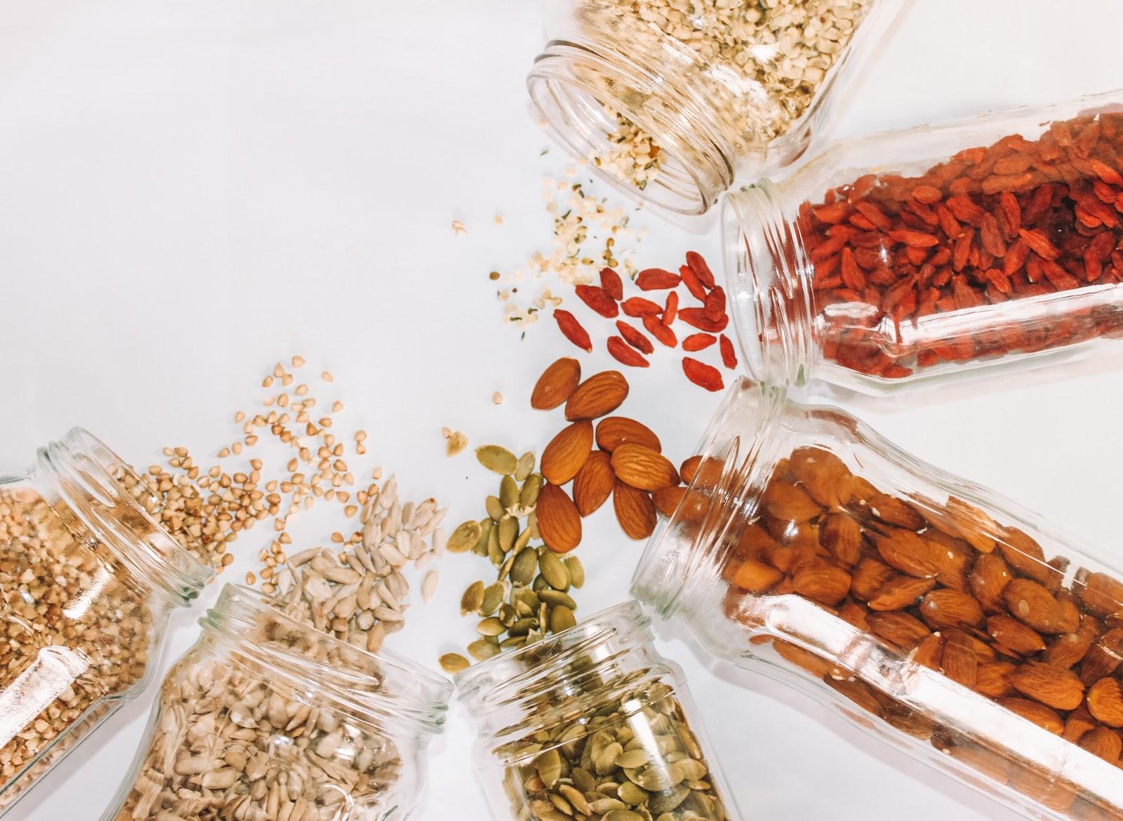 Sementes de castanha fibras alimentares
