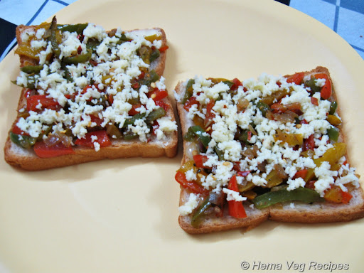 Open Grilled Veggie Sandwich