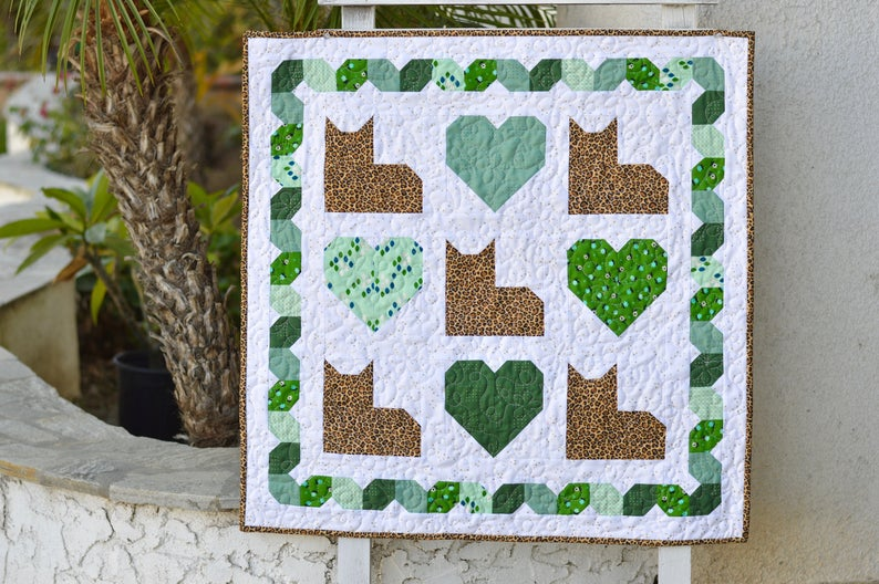 Kitty Love wall quilt pattern