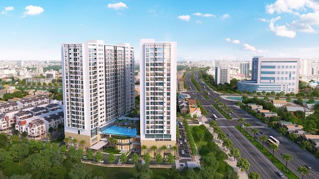 Phối cảnh chung cư Green Pearl 378 Minh Khai