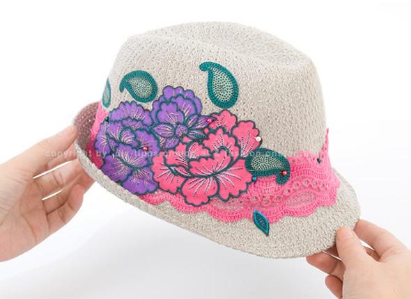Veja como fica no chapeu