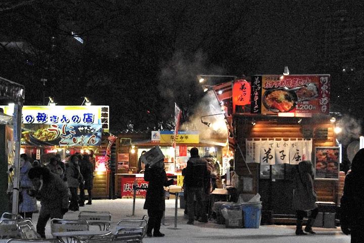 熱いカニ汁美味しい!北海道 食の広場
