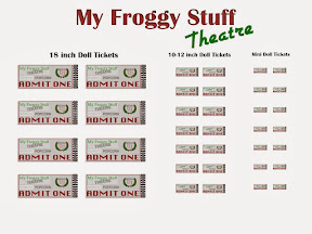 my froggy stuff movie night printable doll theatre tickets