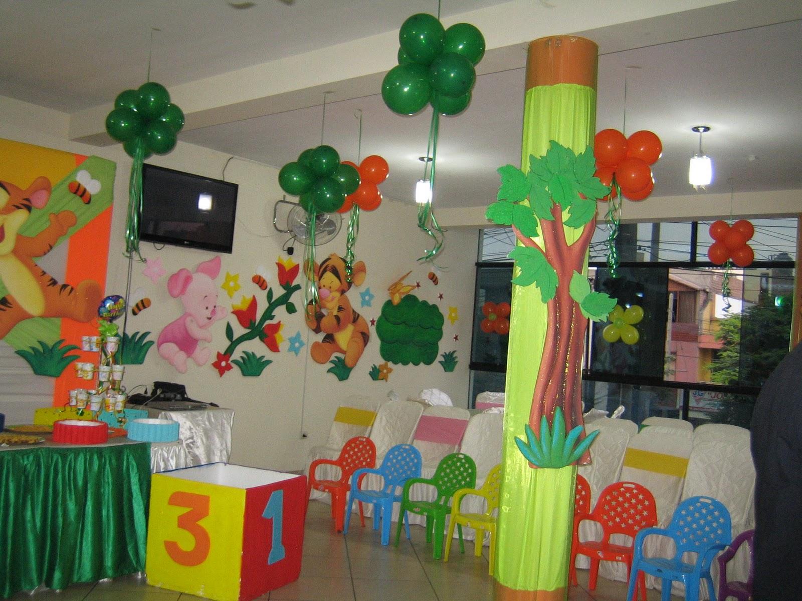 Decoracion fiesta de winnie pooh bebe for Decoracion winnie pooh para fiesta infantil