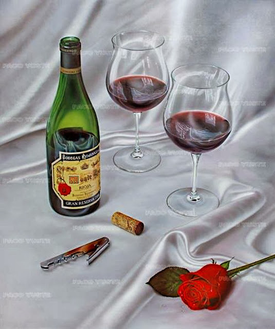 Momentos de celebración,pintura de Paco Yuste