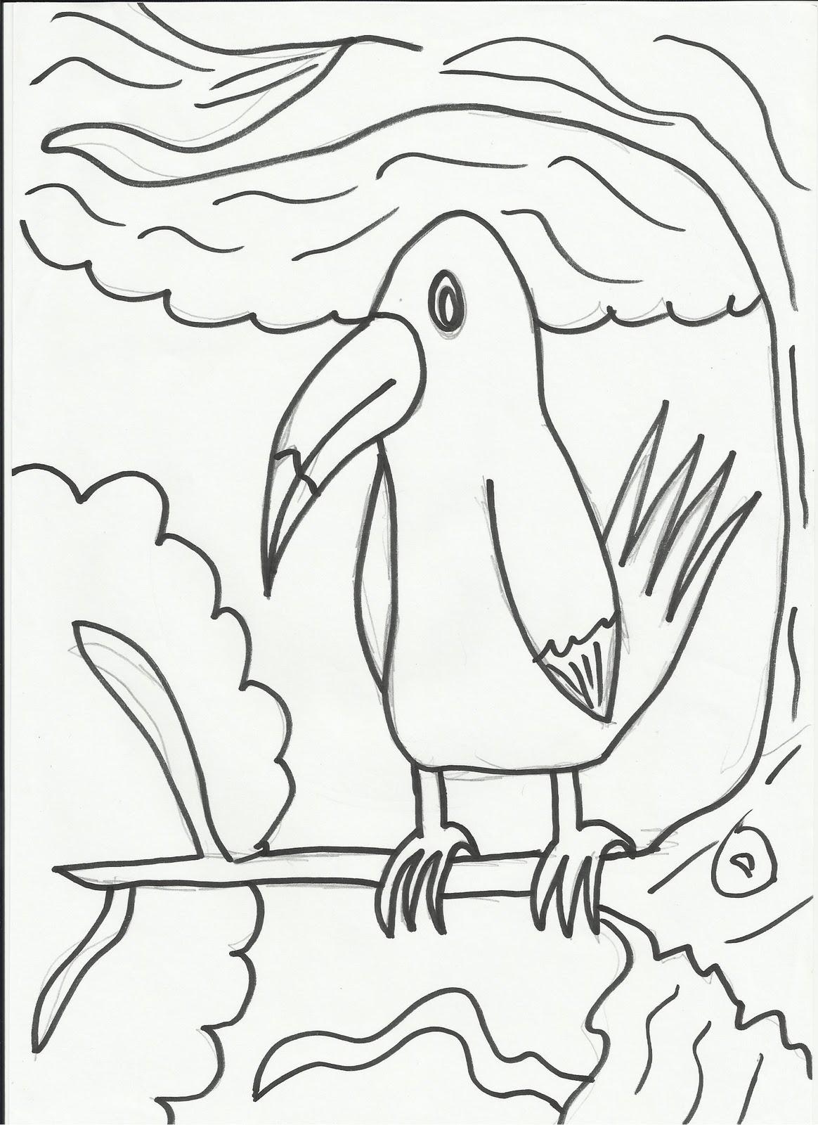 Desenhos Para Colorir Desenho Infantil Para Colorir De Tucano
