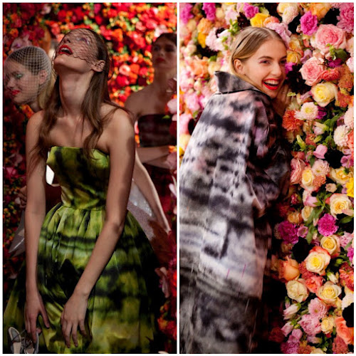 Dior Runway Floral Backdrop 1 million flowers designer fashion style