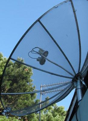 Doble LNB en una antena de 180 cm de petalos - novedoso Antfococentral