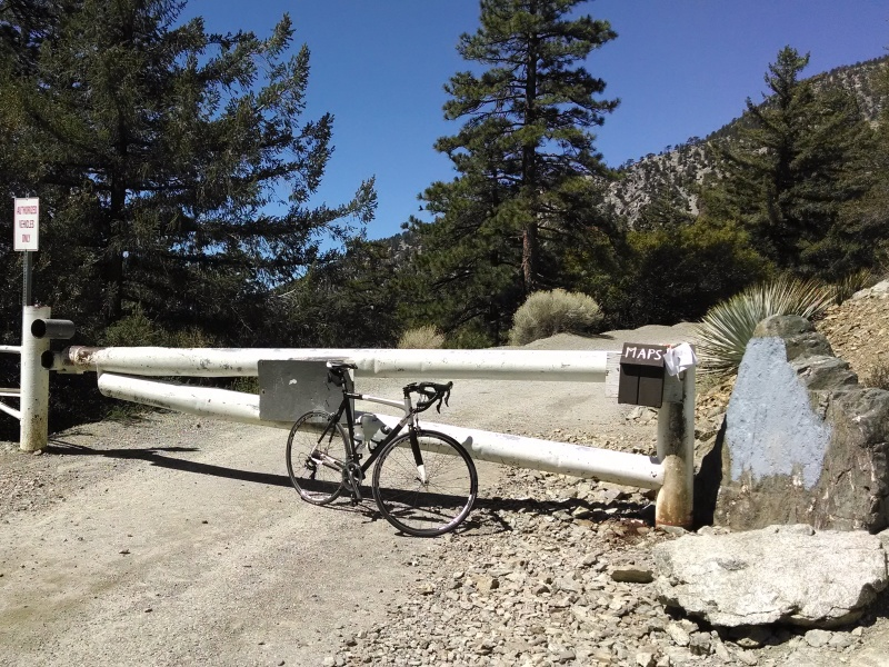 Mount Baldy Notch and Crystal Lake • Mount Baldy Road - Locked Gate