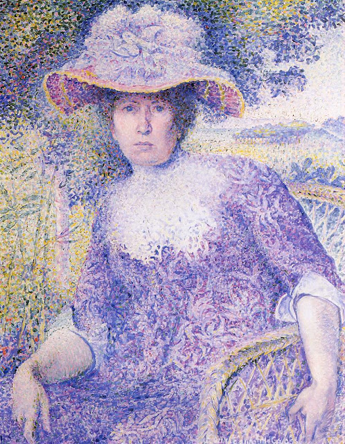 Henri-Edmond Cross - Portrait of Madame Cross