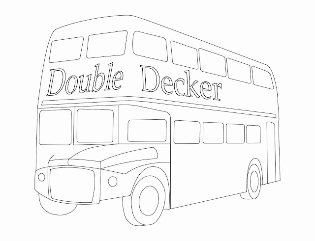 Double Decker Coloring Page